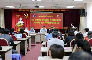 Học viện Y – Dược học cổ truyền Việt Nam tổ chức sinh hoạt khoa học thường kỳ cho Cán bộ giảng viên