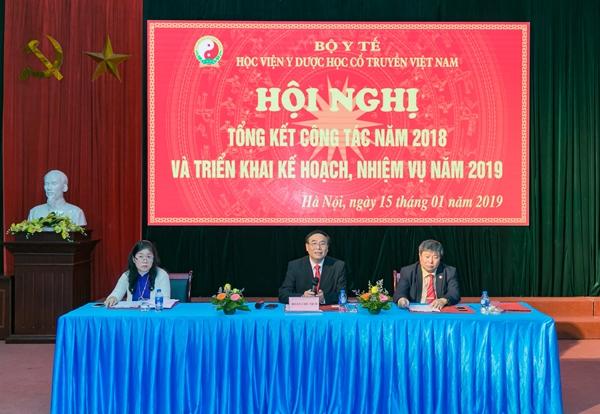 Học viện Y Dược học cổ truyền Việt Nam tổ chức Hội nghị tổng kết công tác năm 2018 và triển khai kế hoạch nhiệm vụ năm 2019