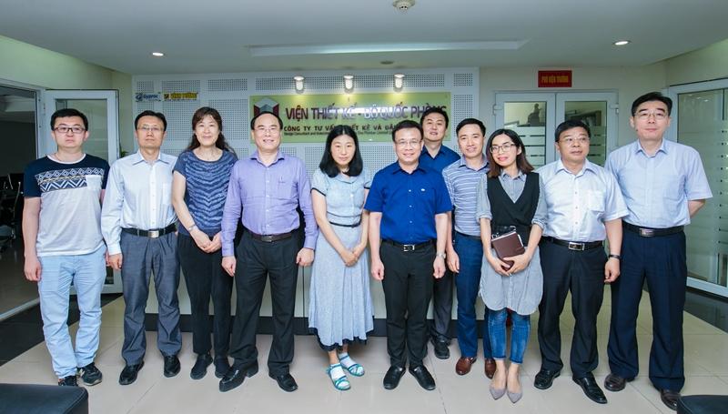 Học viện Y Dược học cổ truyền Việt Nam, đoàn công tác Trung Quốc làm việc với Viện thiết kế Bộ Quốc phòng