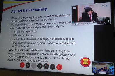 Hội nghị trực tuyến Bộ trưởng Y tế ASEAN-Mỹ: Đẩy mạnh hợp tác trong cuộc chiến chống COVID-19