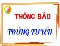 Thông báo danh sách thí sinh trúng tuyển Đại học ngành Y học cổ truyền hệ đào tạo liên kết giữa Học viện YDHCT Việt Nam với Đại học Trung Y dược Thiên Tân Trung Quốc