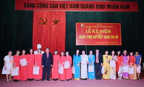 Học viện Y Dược học Cổ truyền Việt Nam kỷ niệm ngày Phụ nữ Việt Nam 20/10:  Sự lớn mạnh của Học viện có sự đóng góp không nhỏ của chị em phụ nữ
