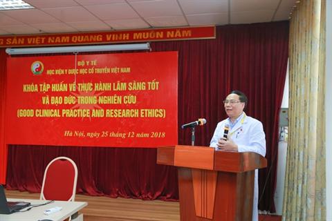 """Khai giảng khóa tập huấn về """"Thực hành lâm sàng tốt và đạo đức trong nghiên cứu"""""""