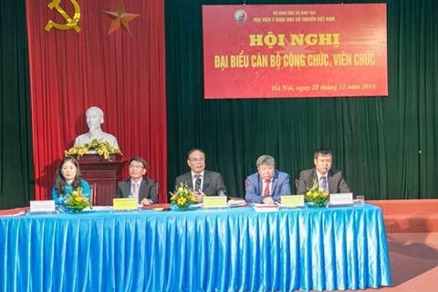 Học viện Y Dược học cổ truyền Việt Nam tổ chức Hội nghị đại biểu cán bộ công chức, viên chức năm 2018