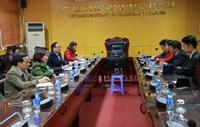 Học viện Y Dược học cổ truyền Việt Nam làm việc với Công ty Cổ phần xuất nhập khẩu vật tư thiết bị Đường sắt