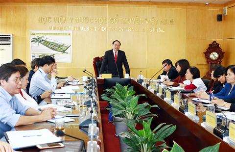 Học viện Y Dược học cổ truyền Việt Nam công bố Quyết định bổ nhiệm  Cán bộ lãnh đạo Khoa, Phòng nhiệm kì 2017 - 2022