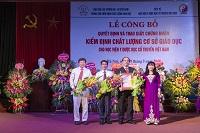 Lễ công bố Quyết định và trao giấy chứng nhận kiểm định chất lượng cơ sở giáo dục cho Học viện Y Dược học cổ truyền Việt Nam